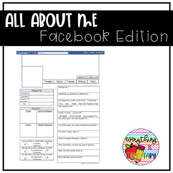 All About Me Facebook Edition
