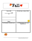Fall Report: All About Me