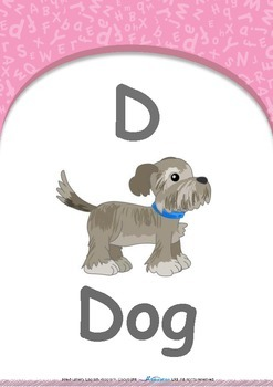 All About Me - Family (Mother & Father) : Letter D : Dog - PN (1 yr old)