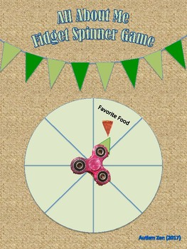 All About Me Fidget Spinner Game