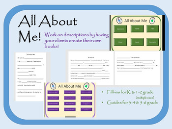 All About Me Fill-ins