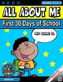 All About Me, First 30 Days of School