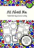 All About Me - First Day of School - Orientation Activity