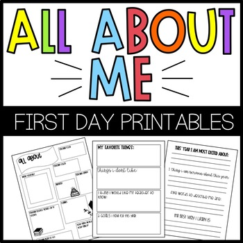 All About Me {First Day of School Survey}