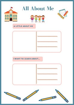 All About Me (First Day of School Worksheet)