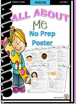 All About Me- First Days of School Poster