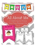 """All About Me"" Flag Banner for Back to School"