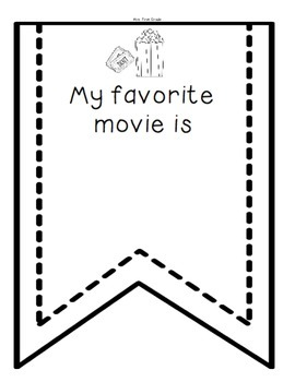 """""""All About Me"""" Flag Banner for Back to School"""