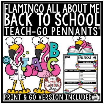 All About Me Flamingo Theme Back to School Writing First Day of School Activity