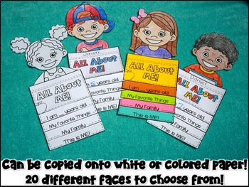 All About Me Flip Book Back to School