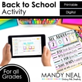 Digital All About Me Back to School Activity | Distance Learning