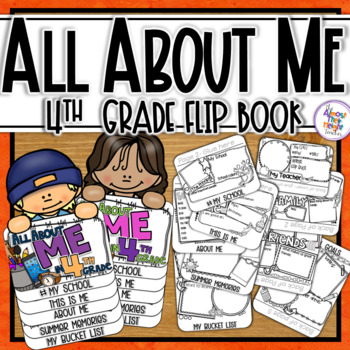 All About Me Flip Book - 4th Grade Back to School Coloring