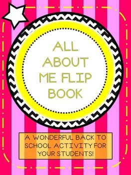 All About Me Flip Book! A wonderful first day activity! *50% off!*