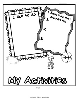 All About Me Flip Book- Back to School