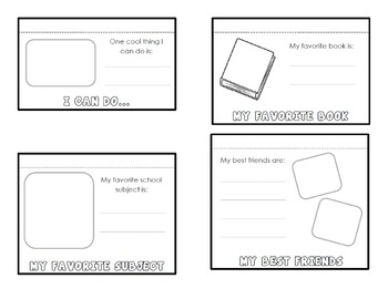 All About Me Flip Book - Beginning of Year Intro or End of Year Memory Book