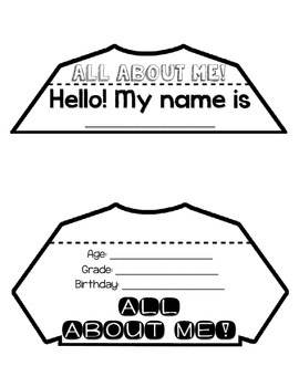 All About Me Flip Book Craftivity for Back to School