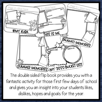 All About Me Flip Book a Back to School Activity for New Zealand Classroom Yr 4