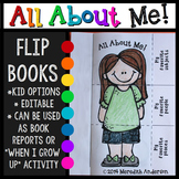 All About Me Flip Books {Editable}