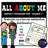 All About Me - Flip Up Activity for Big Kids!