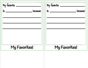 All About Me Flip-book