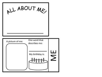 All About Me Flipbook!