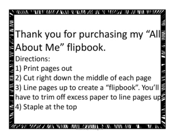 All About Me Flipbook