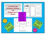 All About Me Brochure Bulletin Board and Parents Night Act