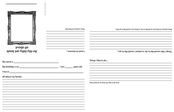 All About Me Foldable (Writing and Drawing Activity)