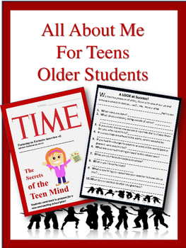 All About Me- For Teens and Older Students!