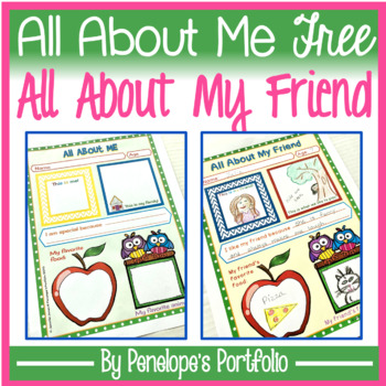 All About Me FREE - All About My Friend
