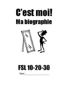 All About Me French as a Second Language Workbook