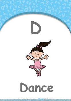 All About Me - Friends : Letter D : Dance - Nursery (2 years old)
