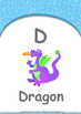 All About Me - Friends : Letter D : Dragon - Nursery (2 years old)