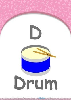 All About Me - Friends (Party & School) : Letter D : Drum - PN (1 year old)
