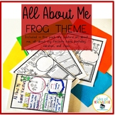 All About Me Frog Themed Posters