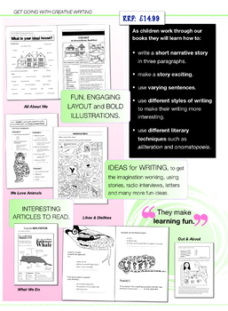 All About Me: Get Going With Creative Writing (and other forms of writing) 7-11