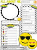 All About Me Get to Know Me Activity EMOJI Theme Back to School