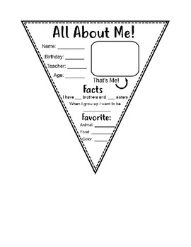All About Me- Get to Know You Activity