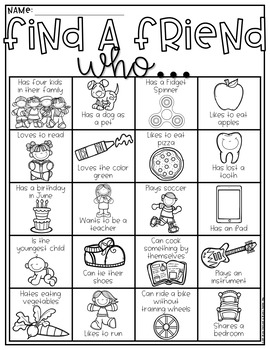 All About Me!-Get to Know You Games & Activities to use for Back to School