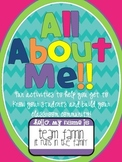 All About Me: Get to Know Your Students and Build Your Classroom Community
