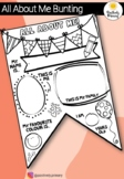 All About Me Activity - Back to School Bunting JUNIOR PRIM