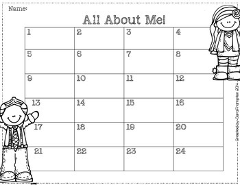 All About Me- Getting to Know You Activity