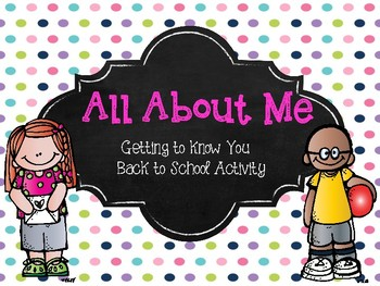 All About Me - Getting to Know You Student Booklet