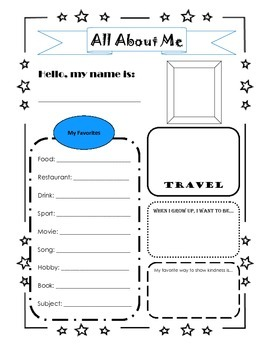 All About Me: Getting to know your students