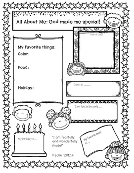 All About Me: God Made me Special