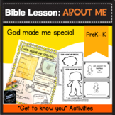 All About Me: God Made me Special Bible Lesson