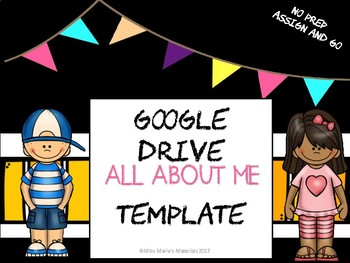 All About Me-Google Drive Brochure