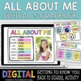 All About Me Google Slides  | Digital Scrapbook | Distance