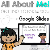 Google Slides™ All About Me! EDITABLE Activity