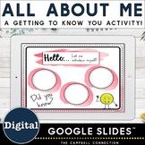 All About Me Google Slides - Set 1